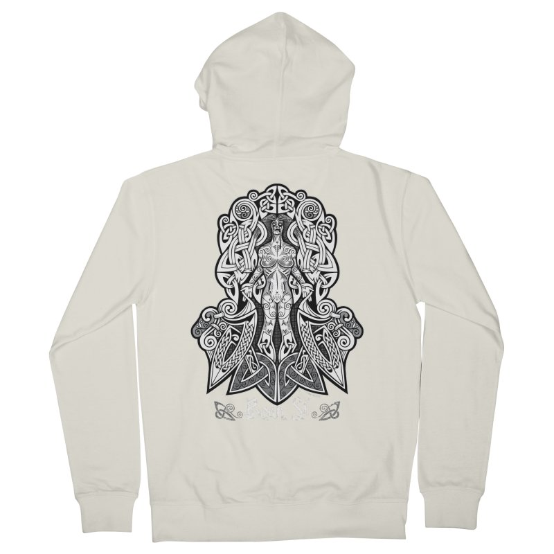 Banshee (bean sí) Men's French Terry Zip-Up Hoody by Celtic Hammer Club Apparel