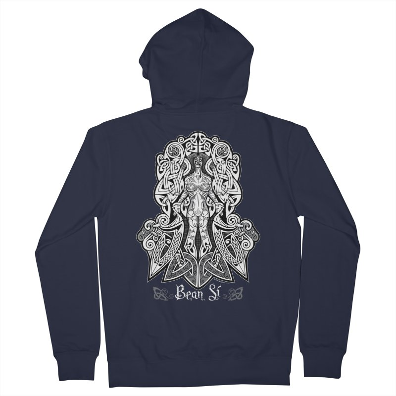 Banshee (bean sí) Men's Zip-Up Hoody by Celtic Hammer Club