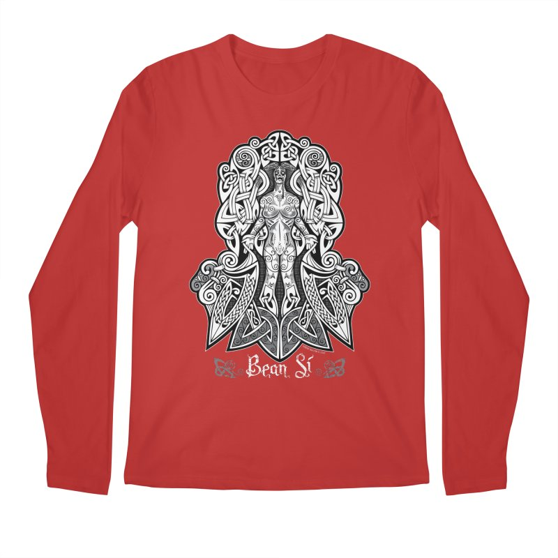 Banshee (bean sí) Men's Regular Longsleeve T-Shirt by Celtic Hammer Club