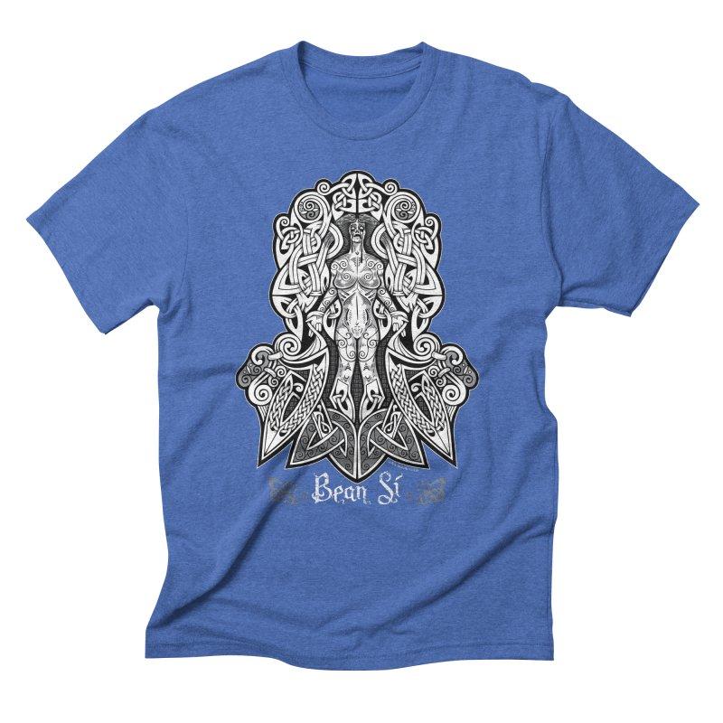 Banshee (bean sí) Men's Triblend T-Shirt by Celtic Hammer Club Apparel