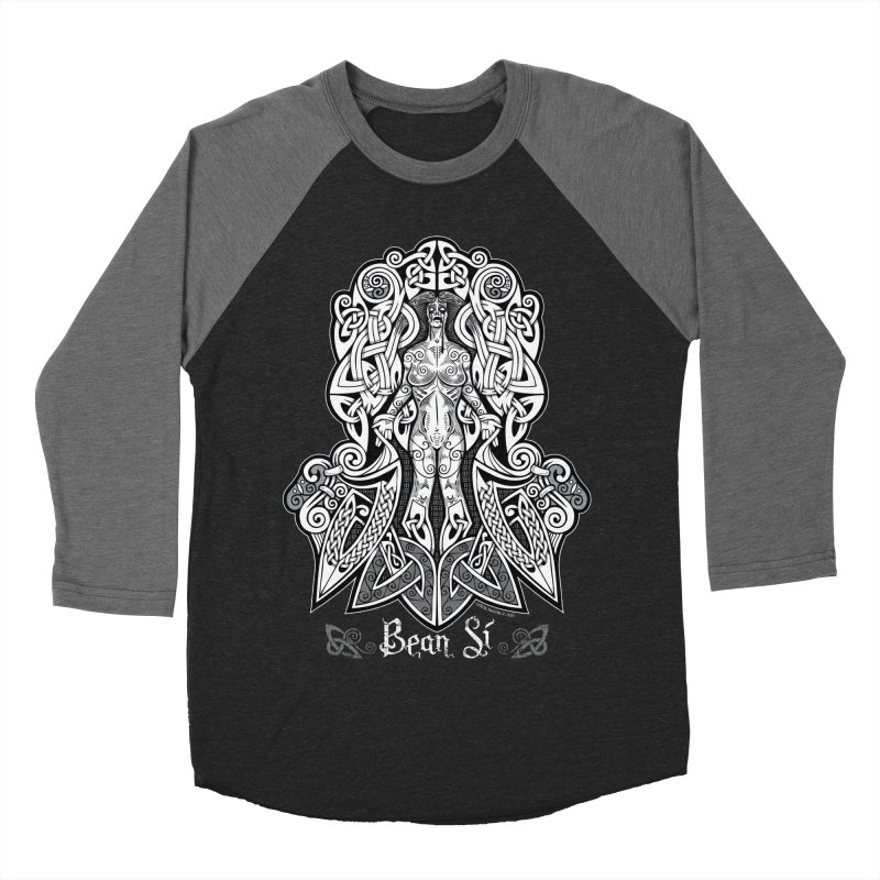 Banshee (bean sí) Women's Baseball Triblend Longsleeve T-Shirt by Celtic Hammer Club Apparel