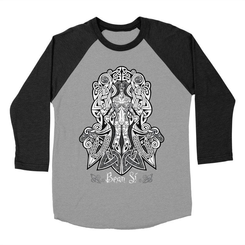 Banshee (bean sí) Men's Baseball Triblend Longsleeve T-Shirt by Celtic Hammer Club Apparel