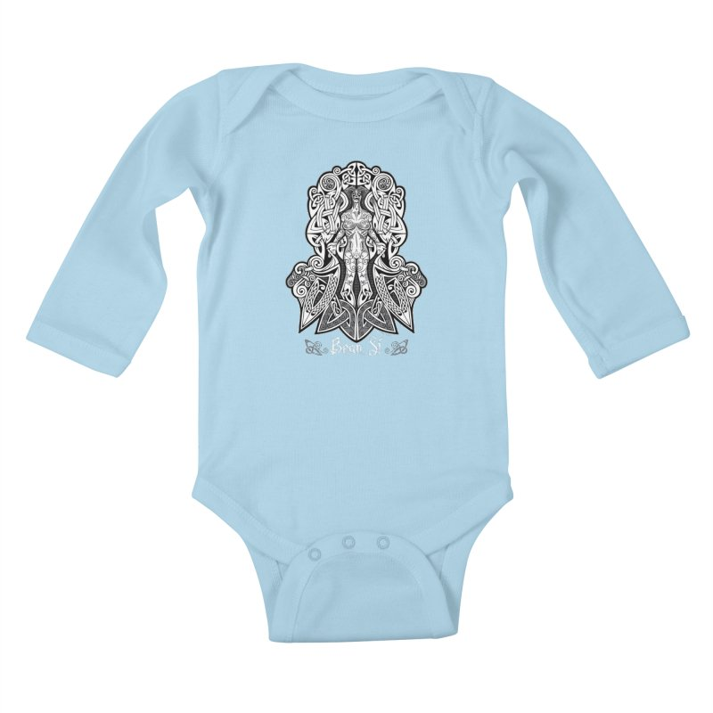Banshee (bean sí) Kids Baby Longsleeve Bodysuit by Celtic Hammer Club