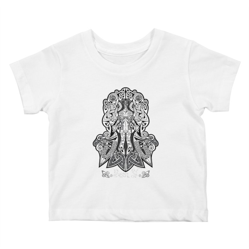 Banshee (bean sí) Kids Baby T-Shirt by Celtic Hammer Club