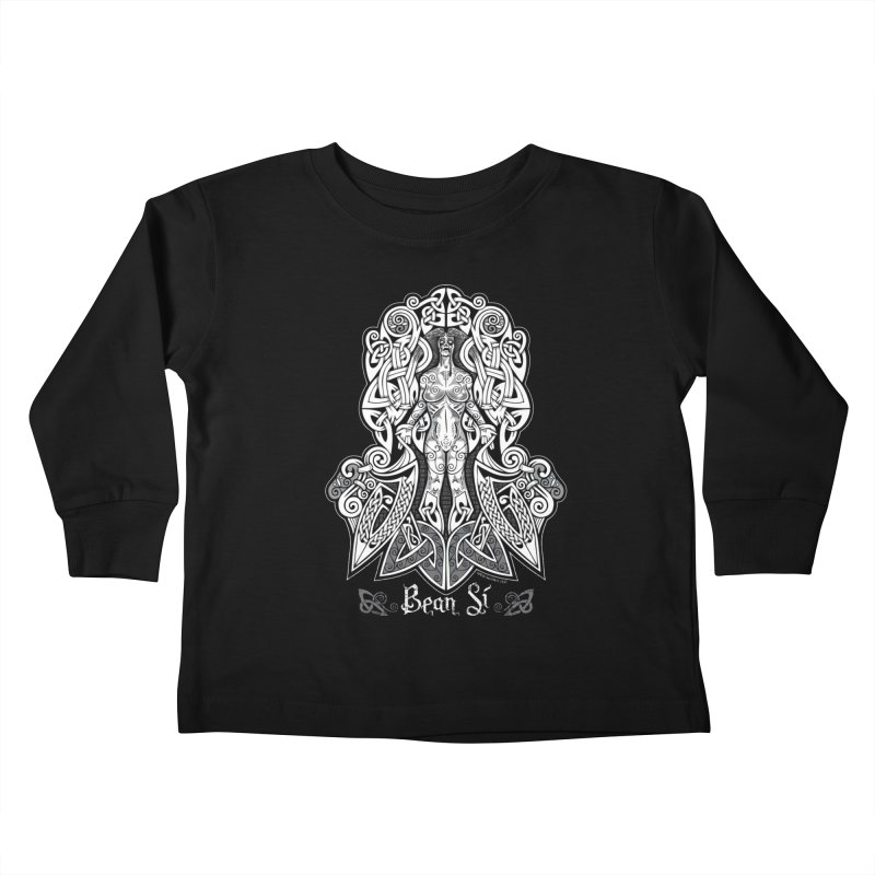 Banshee (bean sí) Kids Toddler Longsleeve T-Shirt by Celtic Hammer Club