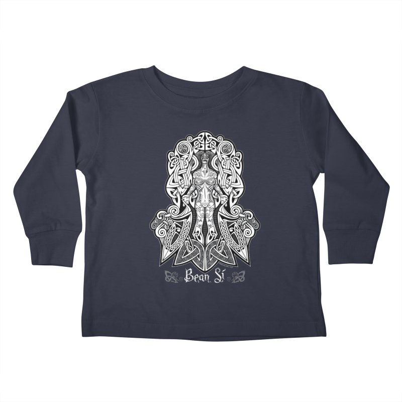 Banshee (bean sí) Kids Toddler Longsleeve T-Shirt by Celtic Hammer Club Apparel