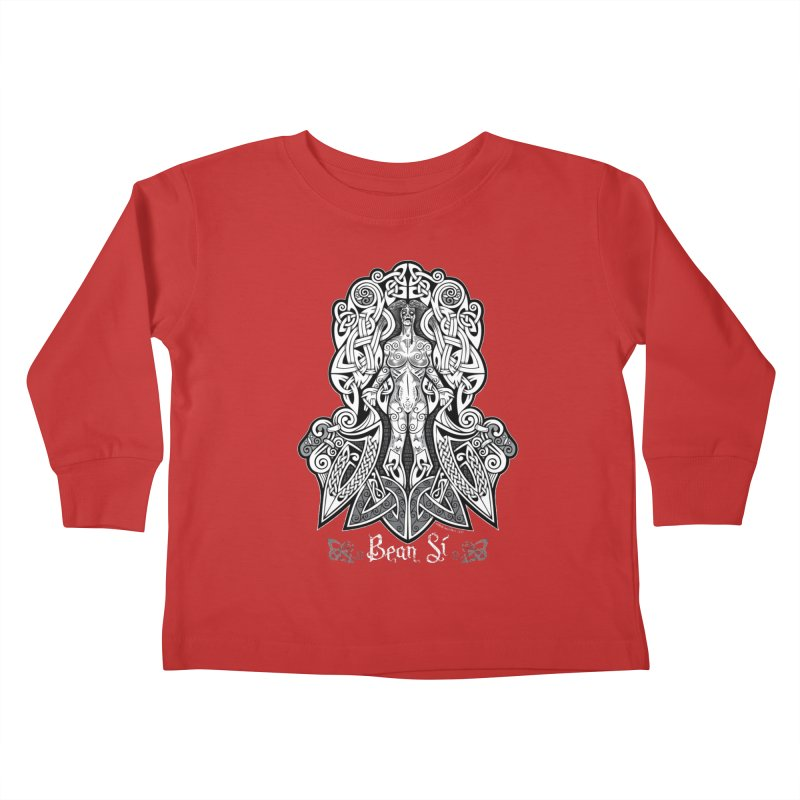 Banshee (bean sí) Kids Toddler Longsleeve T-Shirt by Celtic Hammer Club Apparel