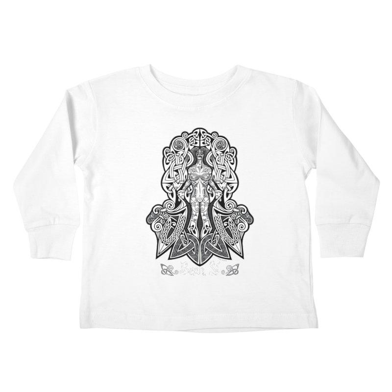 Banshee (bean sí) Kids Toddler Longsleeve T-Shirt by Celtic Hammer Club