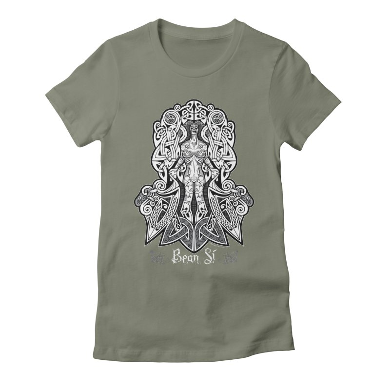 Banshee (bean sí) Women's Fitted T-Shirt by Celtic Hammer Club Apparel
