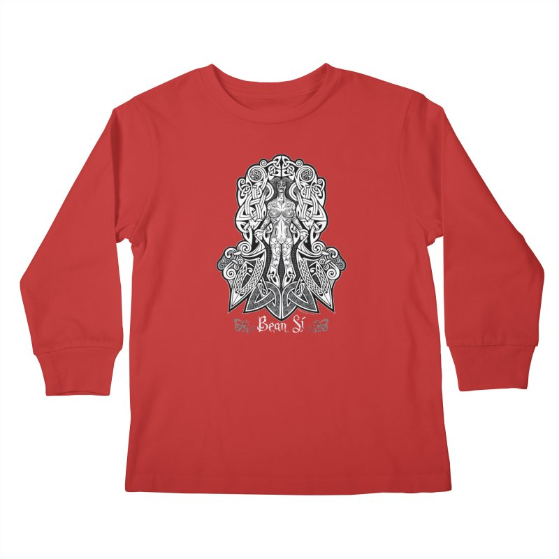 Banshee (bean sí) Kids Longsleeve T-Shirt by Celtic Hammer Club