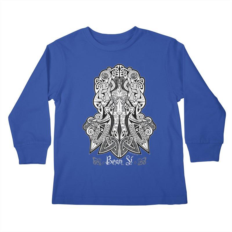 Banshee (bean sí) Kids Longsleeve T-Shirt by Celtic Hammer Club Apparel