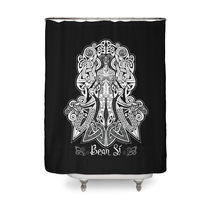 Banshee (bean sí) Home Shower Curtain by Celtic Hammer Club Apparel