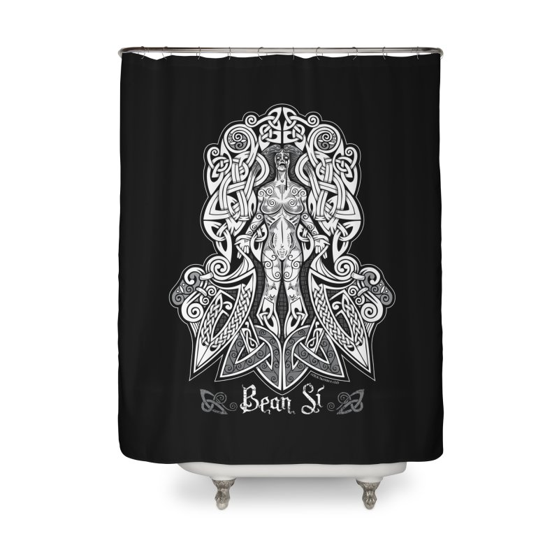 Banshee (bean sí) Home Shower Curtain by Celtic Hammer Club