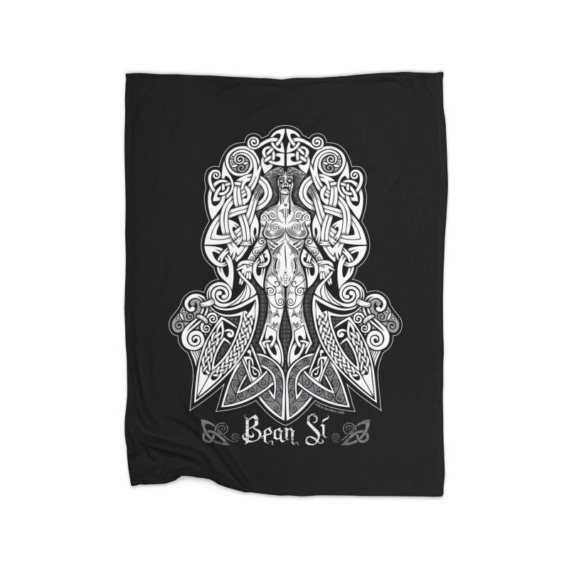 Banshee (bean sí) Home Blanket by Celtic Hammer Club Apparel