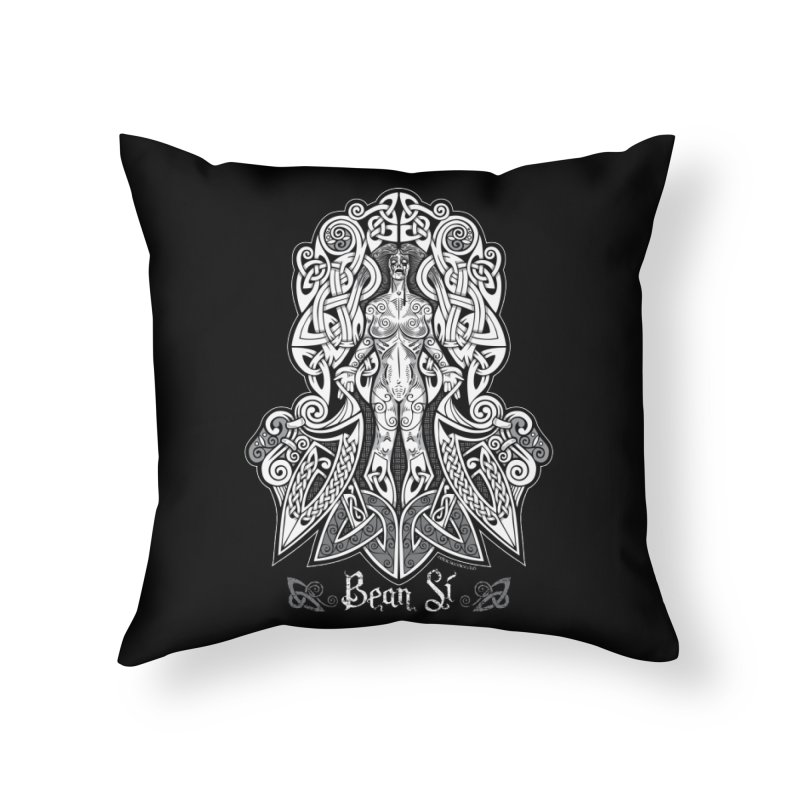 Banshee (bean sí) Home Throw Pillow by Celtic Hammer Club Apparel