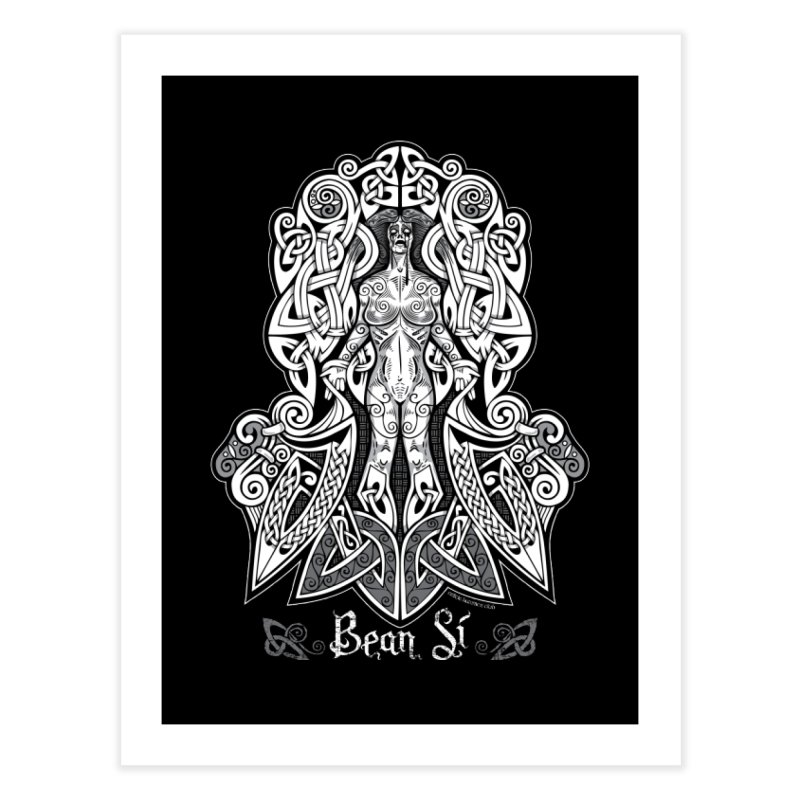 Banshee (bean sí) Home Fine Art Print by Celtic Hammer Club