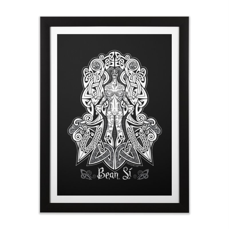 Banshee (bean sí) Home Framed Fine Art Print by Celtic Hammer Club Apparel