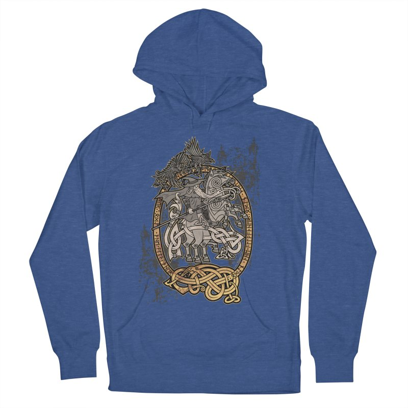 Odin the Wanderer Women's French Terry Pullover Hoody by Celtic Hammer Club