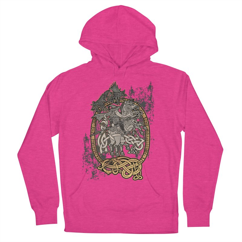 Odin the Wanderer Women's French Terry Pullover Hoody by Celtic Hammer Club Apparel