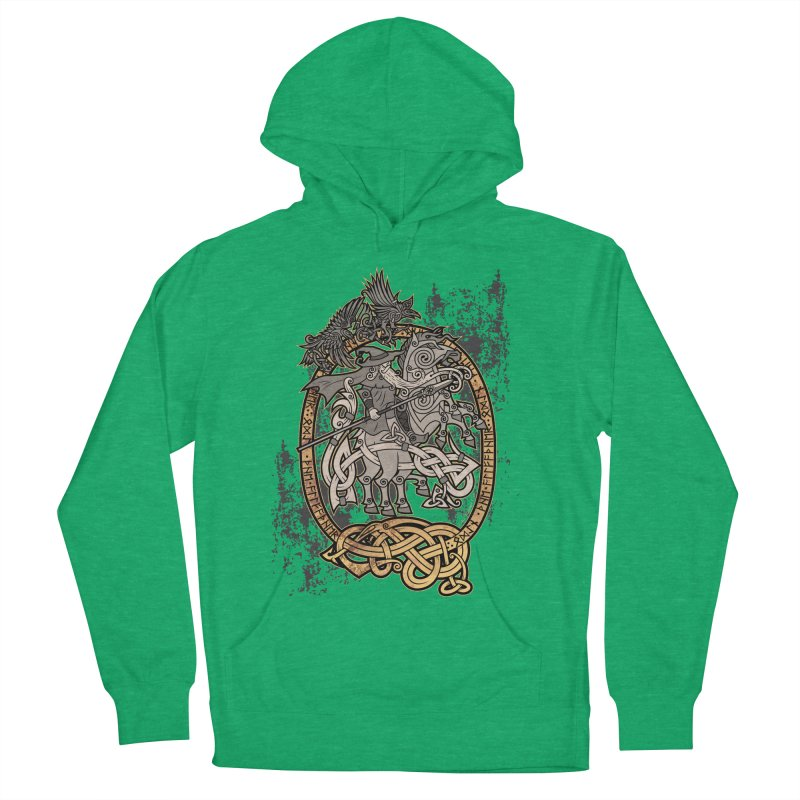 Odin the Wanderer Men's French Terry Pullover Hoody by Celtic Hammer Club