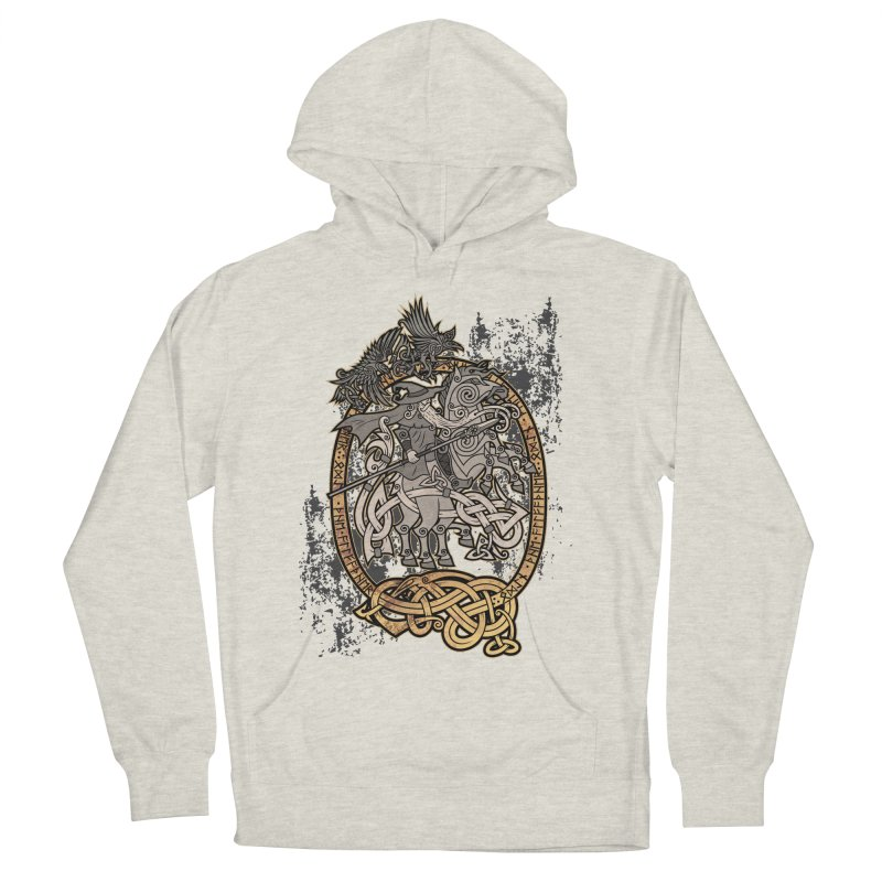 Odin the Wanderer Men's French Terry Pullover Hoody by Celtic Hammer Club Apparel
