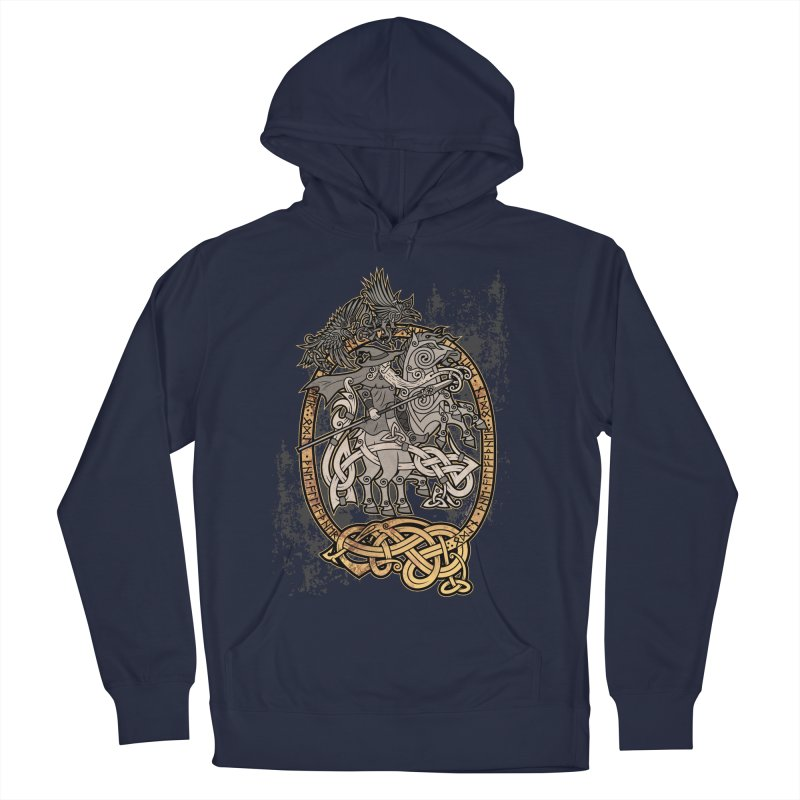 Odin the Wanderer Men's Pullover Hoody by Celtic Hammer Club