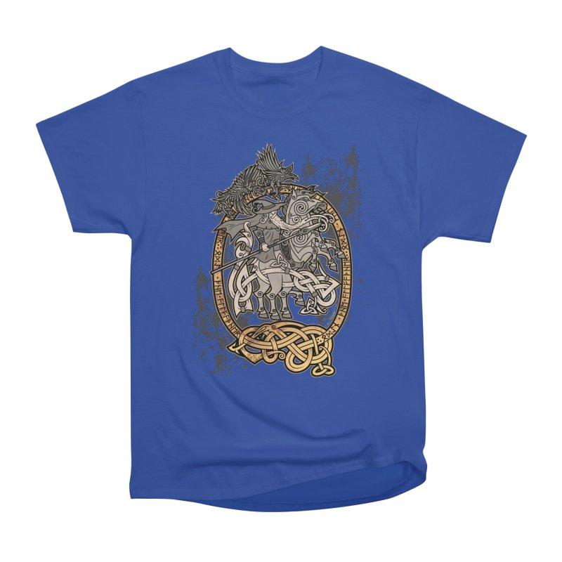 Odin the Wanderer Women's Heavyweight Unisex T-Shirt by Celtic Hammer Club Apparel