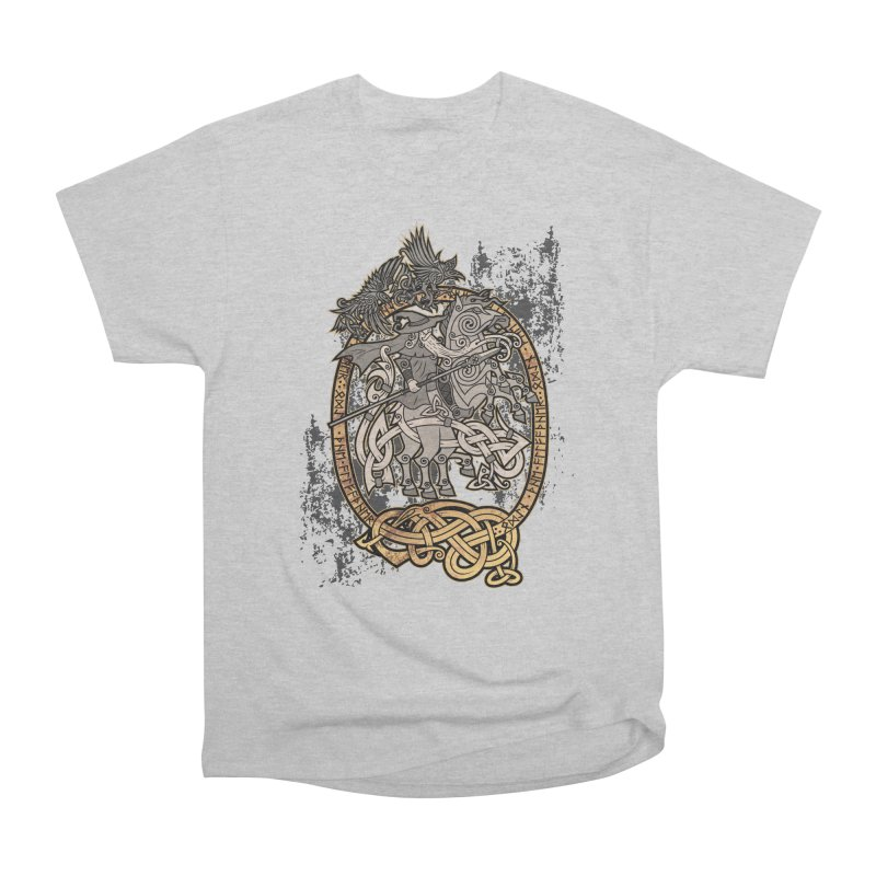 Odin the Wanderer Women's Heavyweight Unisex T-Shirt by Celtic Hammer Club