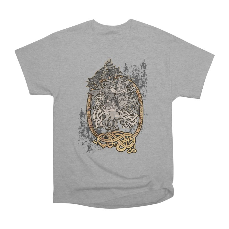 Odin the Wanderer Men's Heavyweight T-Shirt by Celtic Hammer Club