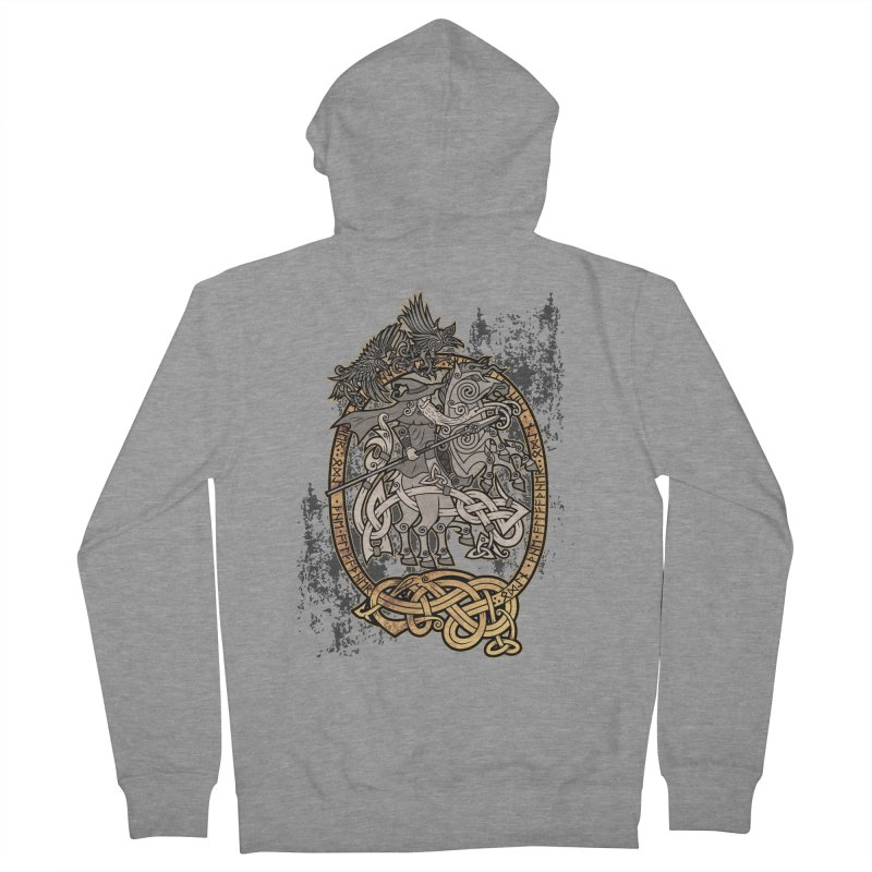 Odin the Wanderer Women's French Terry Zip-Up Hoody by Celtic Hammer Club Apparel