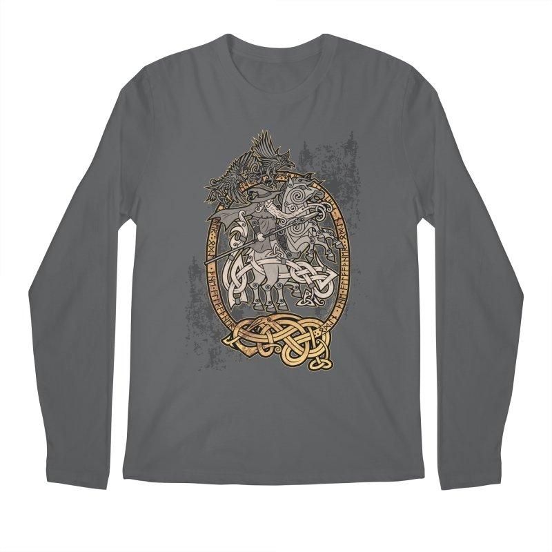 Odin the Wanderer Men's Regular Longsleeve T-Shirt by Celtic Hammer Club Apparel