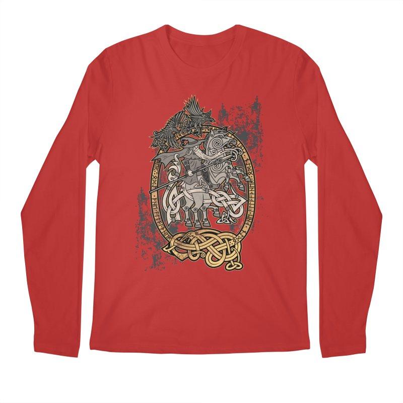 Odin the Wanderer Men's Regular Longsleeve T-Shirt by Celtic Hammer Club