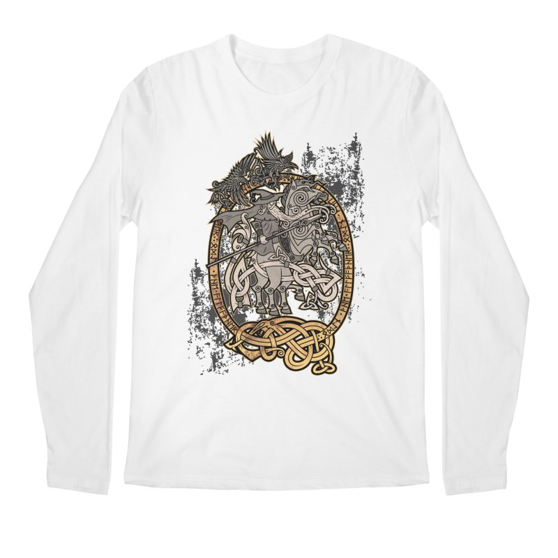 Odin the Wanderer Men's Regular Longsleeve T-Shirt by Celtic Hammer Club