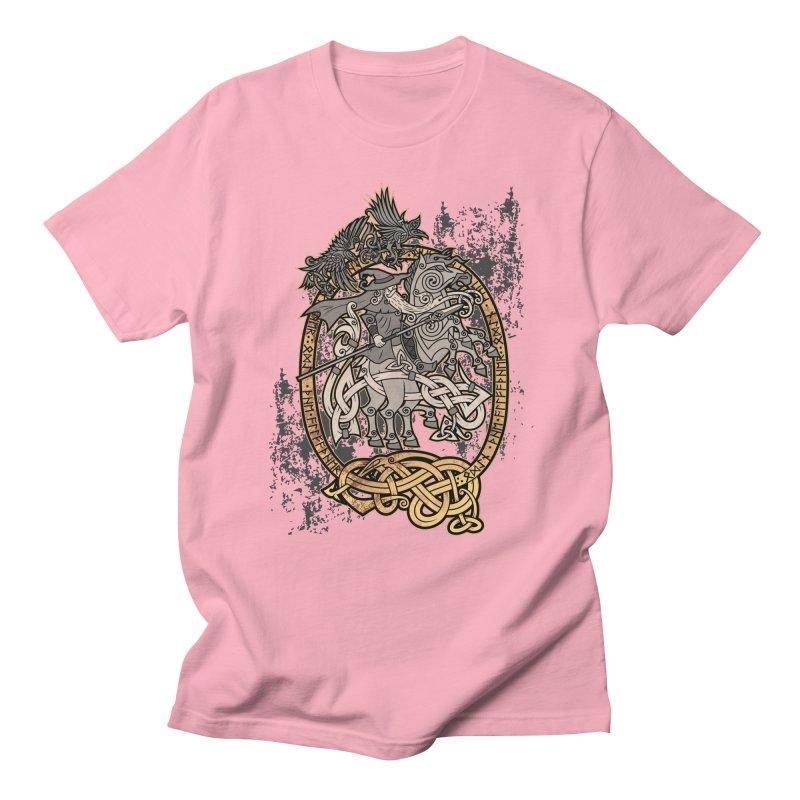 Odin the Wanderer Women's Regular Unisex T-Shirt by Celtic Hammer Club Apparel