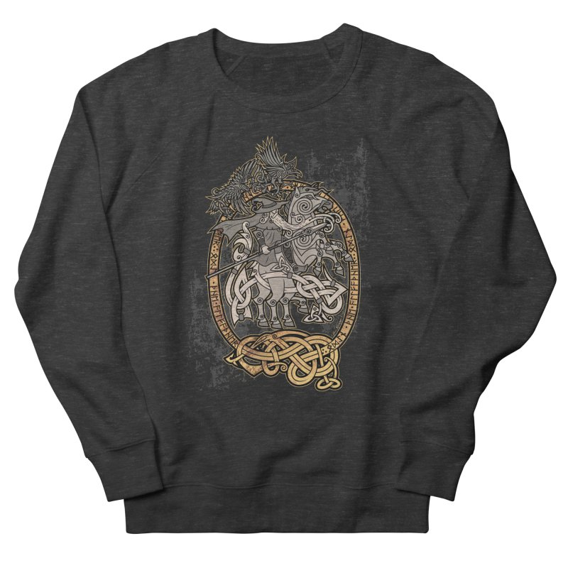 Odin the Wanderer Women's French Terry Sweatshirt by Celtic Hammer Club
