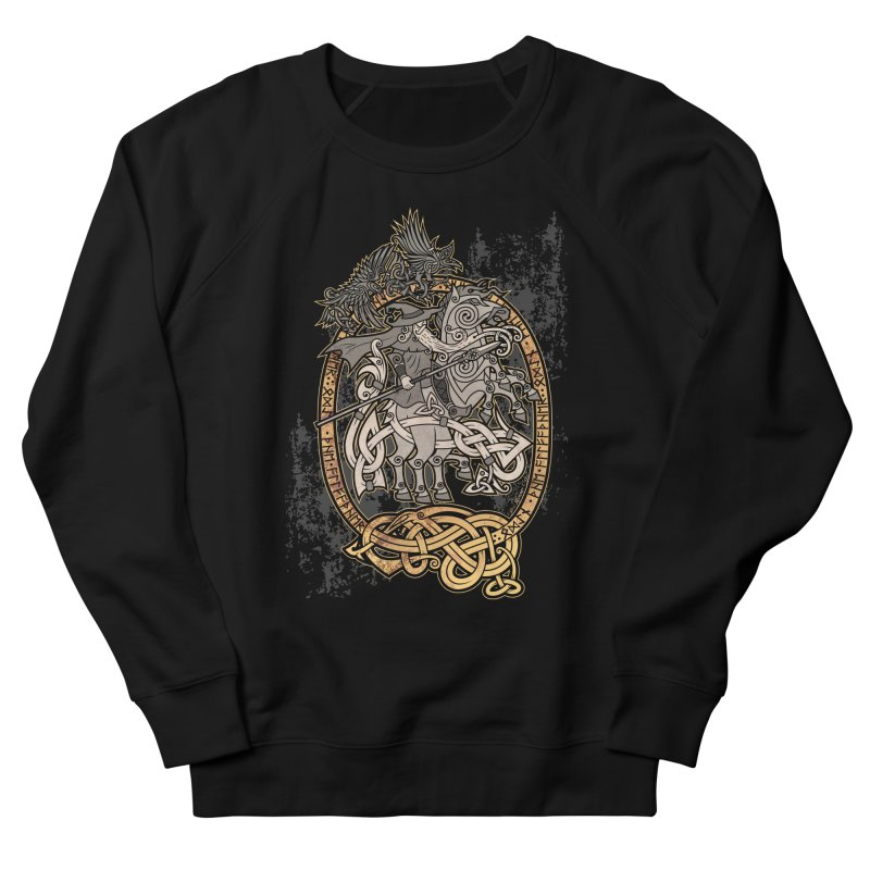 Odin the Wanderer Women's French Terry Sweatshirt by Celtic Hammer Club Apparel