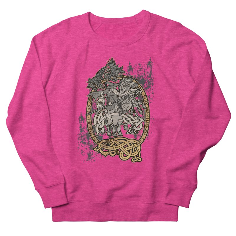 Odin the Wanderer Men's French Terry Sweatshirt by Celtic Hammer Club