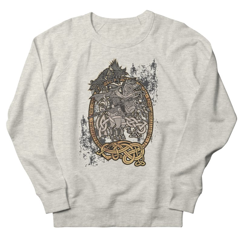 Odin the Wanderer Men's French Terry Sweatshirt by Celtic Hammer Club Apparel