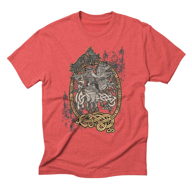 Odin the Wanderer Men's Triblend T-Shirt by Celtic Hammer Club Apparel