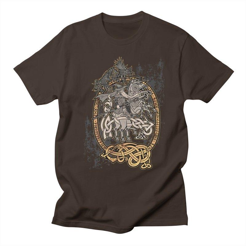 Odin the Wanderer Men's T-Shirt by Celtic Hammer Club