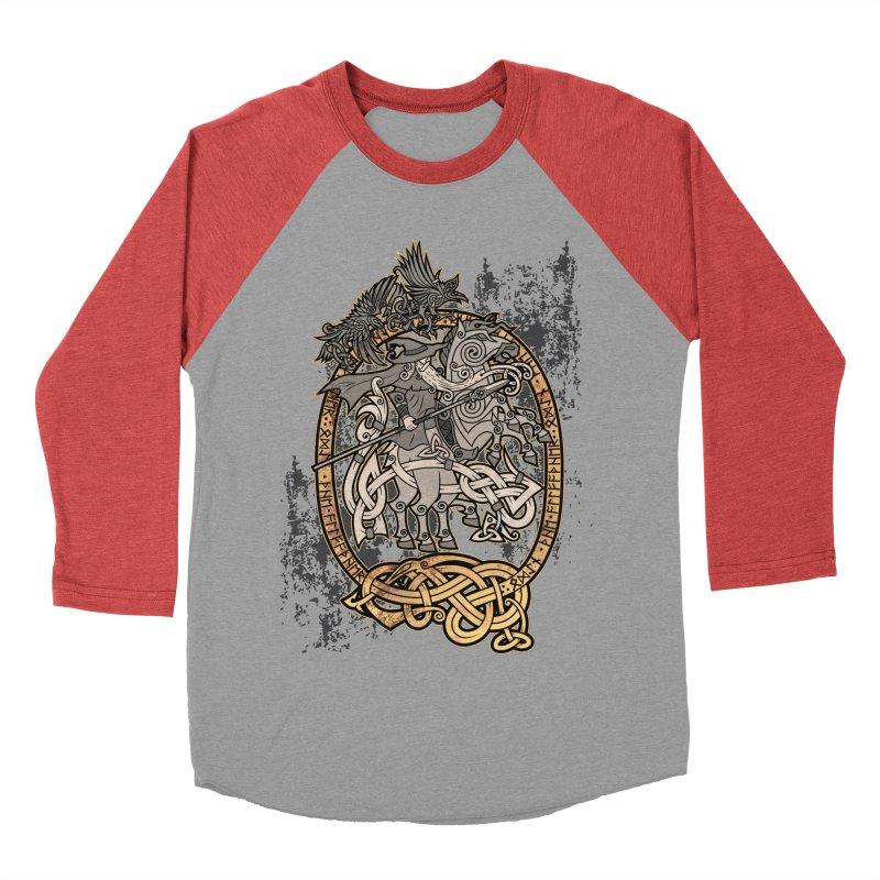 Odin the Wanderer Men's Baseball Triblend Longsleeve T-Shirt by Celtic Hammer Club Apparel