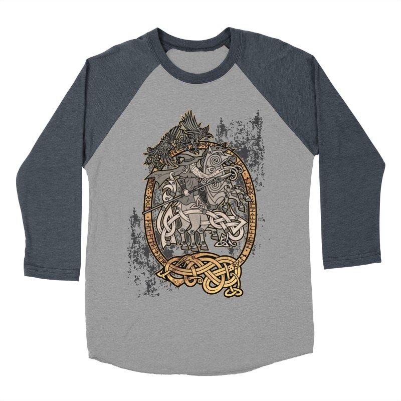 Odin the Wanderer Men's Baseball Triblend Longsleeve T-Shirt by Celtic Hammer Club