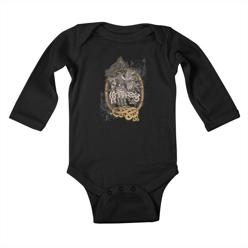 Odin the Wanderer Kids Baby Longsleeve Bodysuit by Celtic Hammer Club