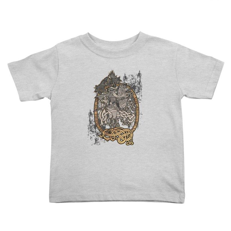 Odin the Wanderer Kids Toddler T-Shirt by Celtic Hammer Club Apparel