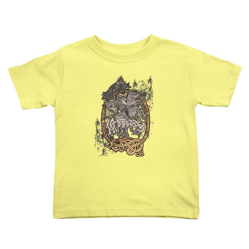 Odin the Wanderer Kids Toddler T-Shirt by Celtic Hammer Club