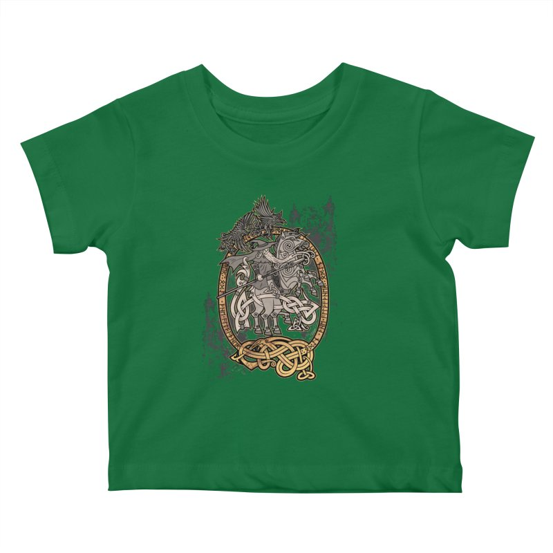 Odin the Wanderer Kids Baby T-Shirt by Celtic Hammer Club