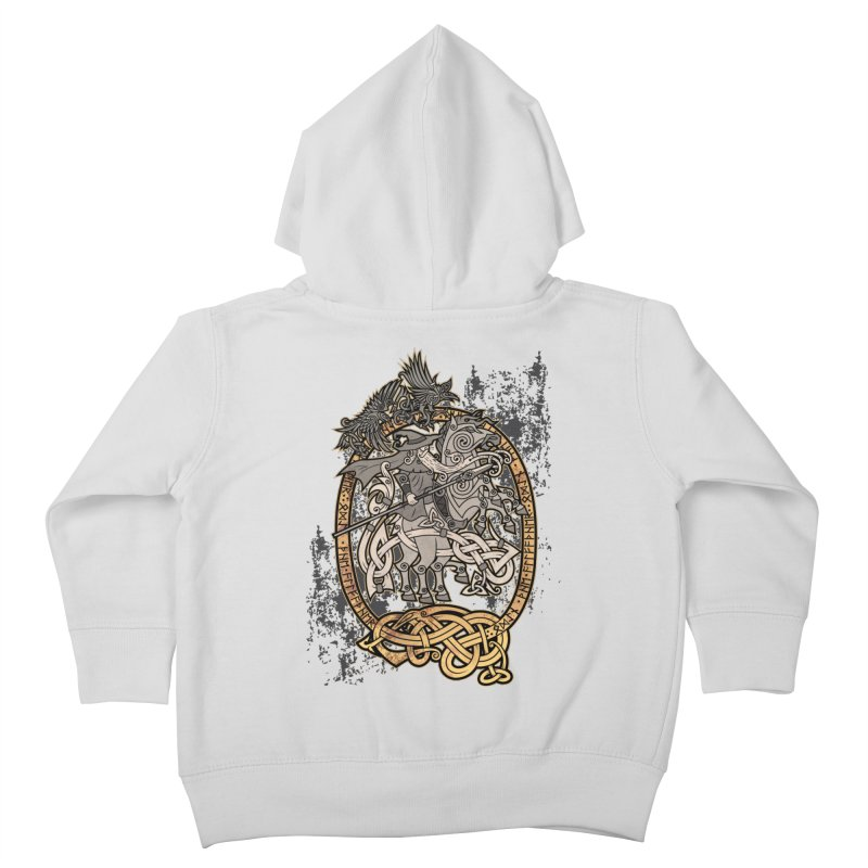 Odin the Wanderer Kids Toddler Zip-Up Hoody by Celtic Hammer Club