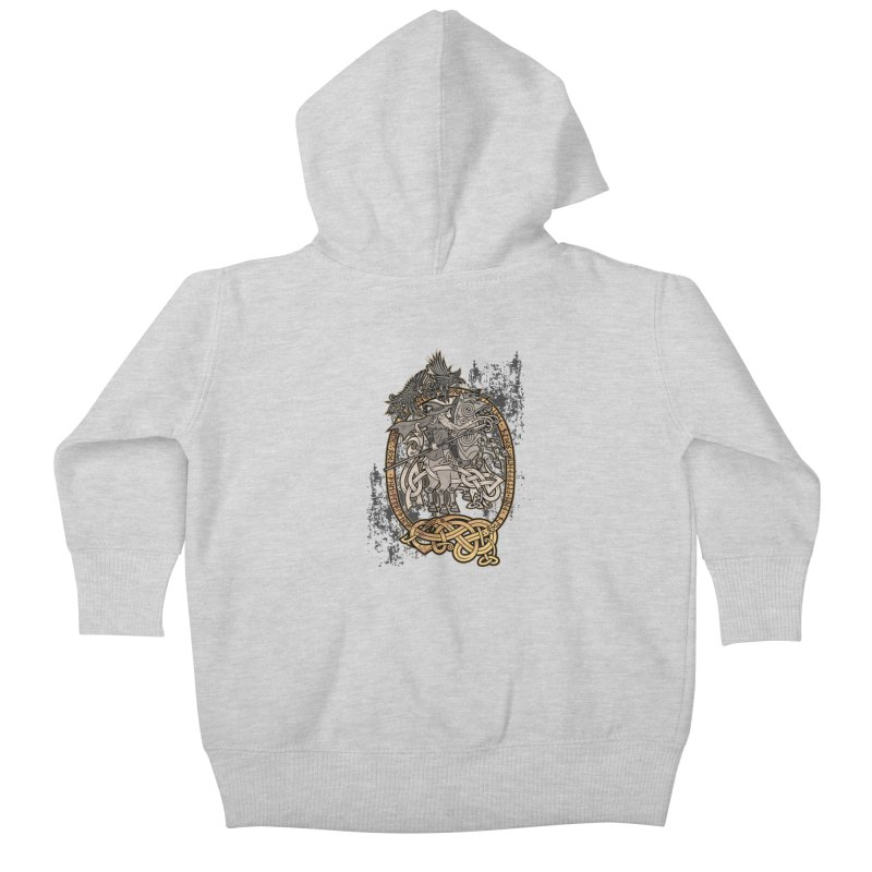 Odin the Wanderer Kids Baby Zip-Up Hoody by Celtic Hammer Club Apparel