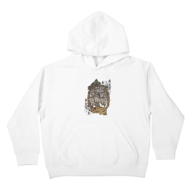 Odin the Wanderer Kids Pullover Hoody by Celtic Hammer Club Apparel