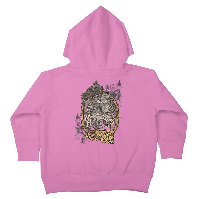Odin the Wanderer Kids Toddler Zip-Up Hoody by Celtic Hammer Club Apparel